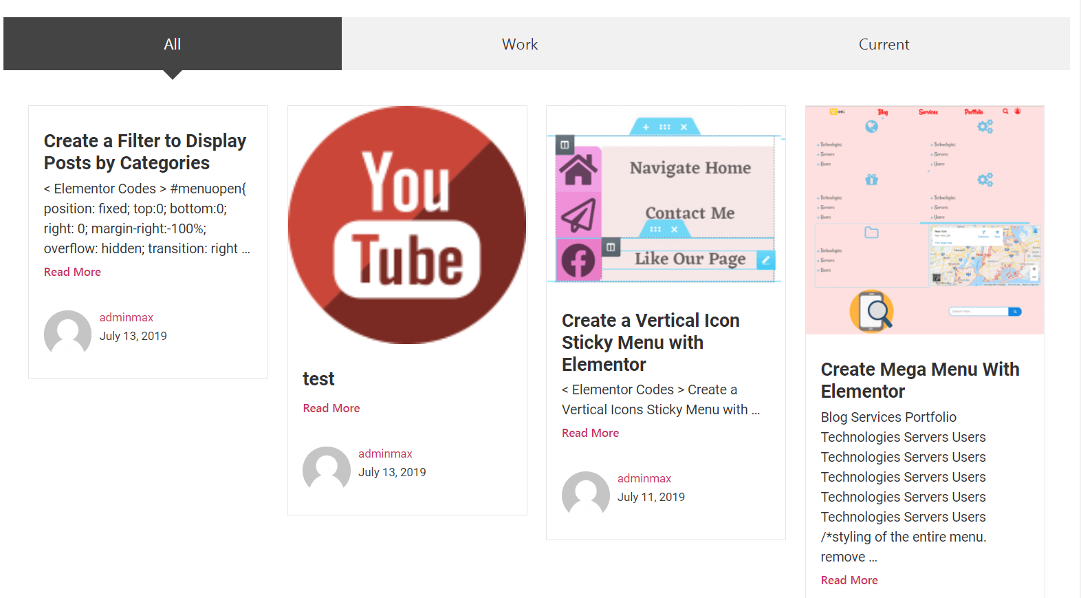 Create a Filter to Display Posts by Categories