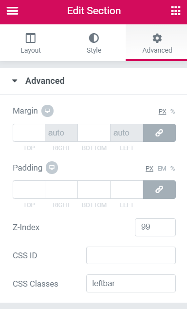Create a Vertical Icon Sticky Menu with Elementor