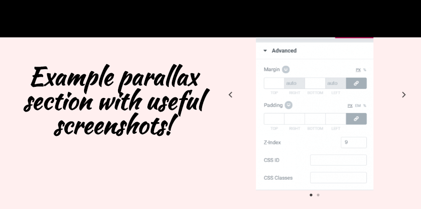 Create an Elementor Parallax Section for Any Element - Mobile Ready