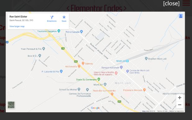 Create a Lazy-Loaded Elementor Google Maps Pop-Up Button