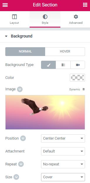 Great Design - Change Background Image on Hover in Elementor
