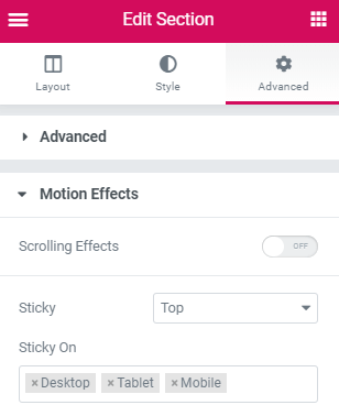 Elementor Sticky Header Changes Logo Size and Position