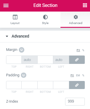 Display header anywhere on the page on icon click