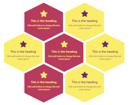 Awesome Hexagonal Icon Boxes & Portfolio