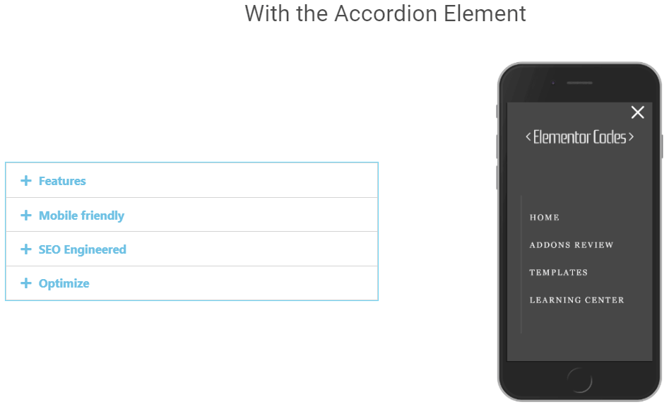 Elementor Accordion, Toggle and Tabs Element Awesome Column Background Image Switcher