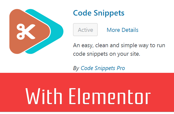 Easily Add CSS, Javascript And PHP Code Snippets To Elementor Pages